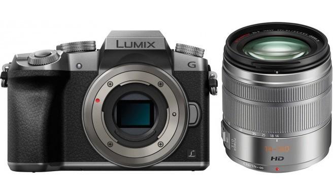 Panasonic Lumix DMC-G7 + 14-140mm Kit, hõbedane
