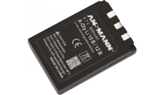 Ansmann battery (Olympus LI-10B, 800mAh)