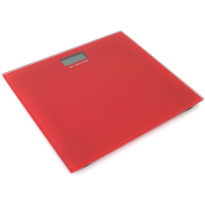 Omega bathroom scale OBSR, red